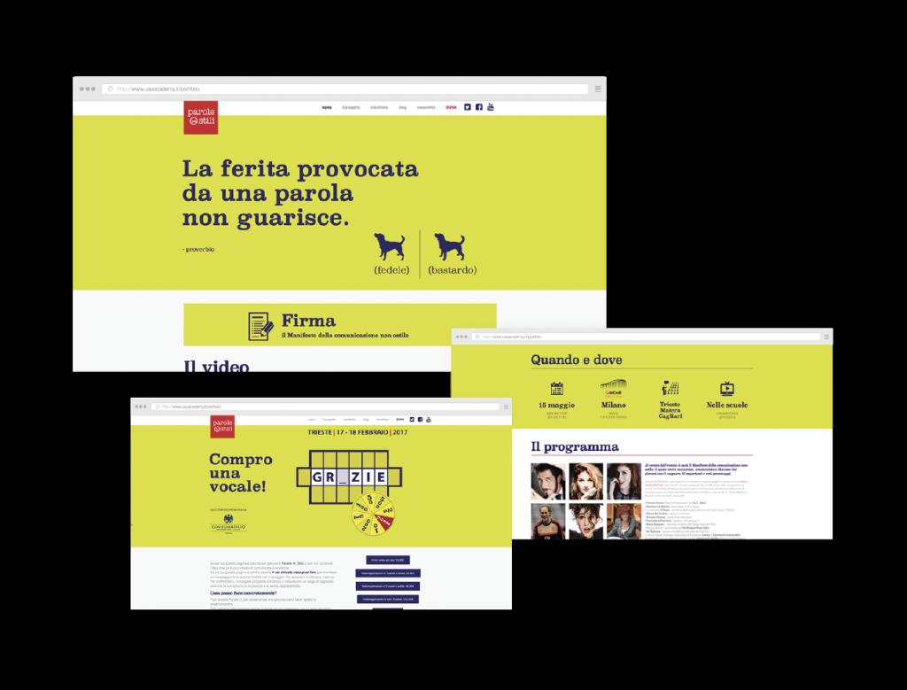 Parole Ostili | Il sito web